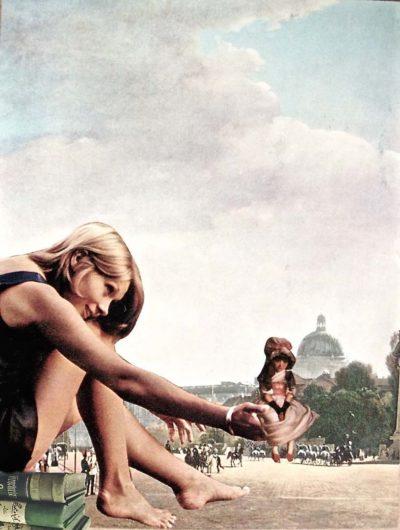 La modella e la bambina a Berlino.